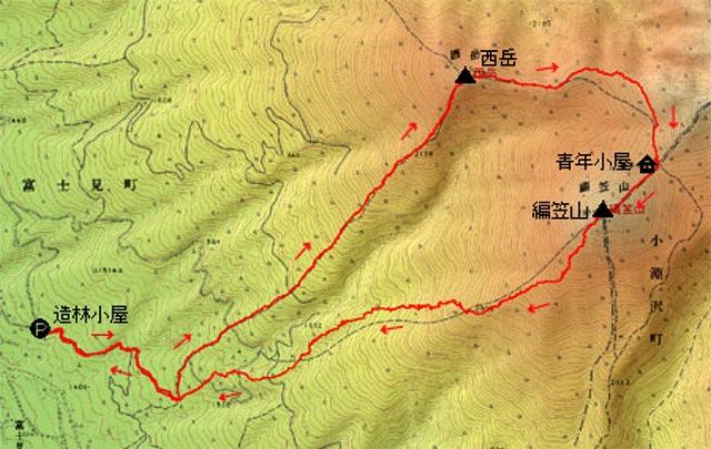 南八ヶ岳 西岳編笠山(平成21年10月24 日)その1